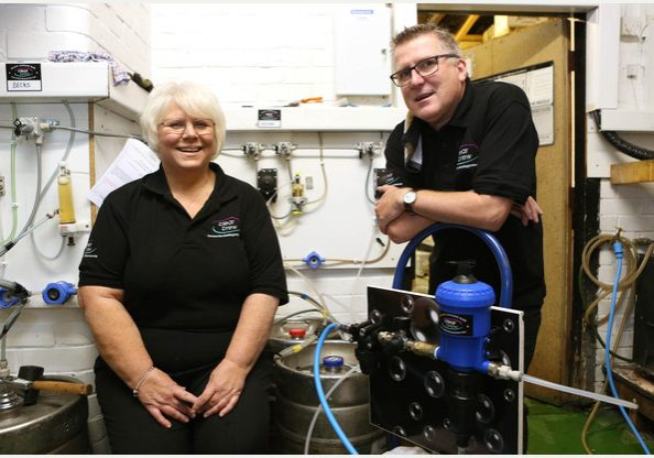 22/10/15 Rowing Club - Business - Bedford, Bedford Tim Caswell and Pat Wood who run Clear Brew in Bedfordshire..Pic - Richard Marsham